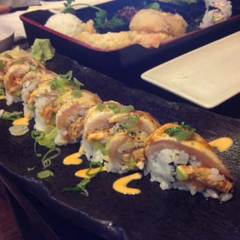 Angry fish sushi raiders roll slight char on top to for Angry fish sushi
