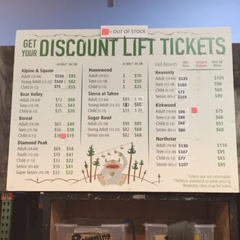 sports basement campbell ca united states discount lift tickets