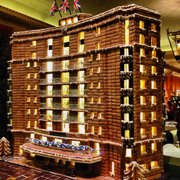 Ginger bread house at holiday time