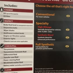 jiffy lube oil change price Jiffy Lube oil change price range between $46 for Pennzoil Conventional (Includes 5W & 10W) and $ for Pennzoil Ultra Platinum Full Synthetic. However, those Jiffy Lube oil change prices can vary depending on the type of car you drive and location.