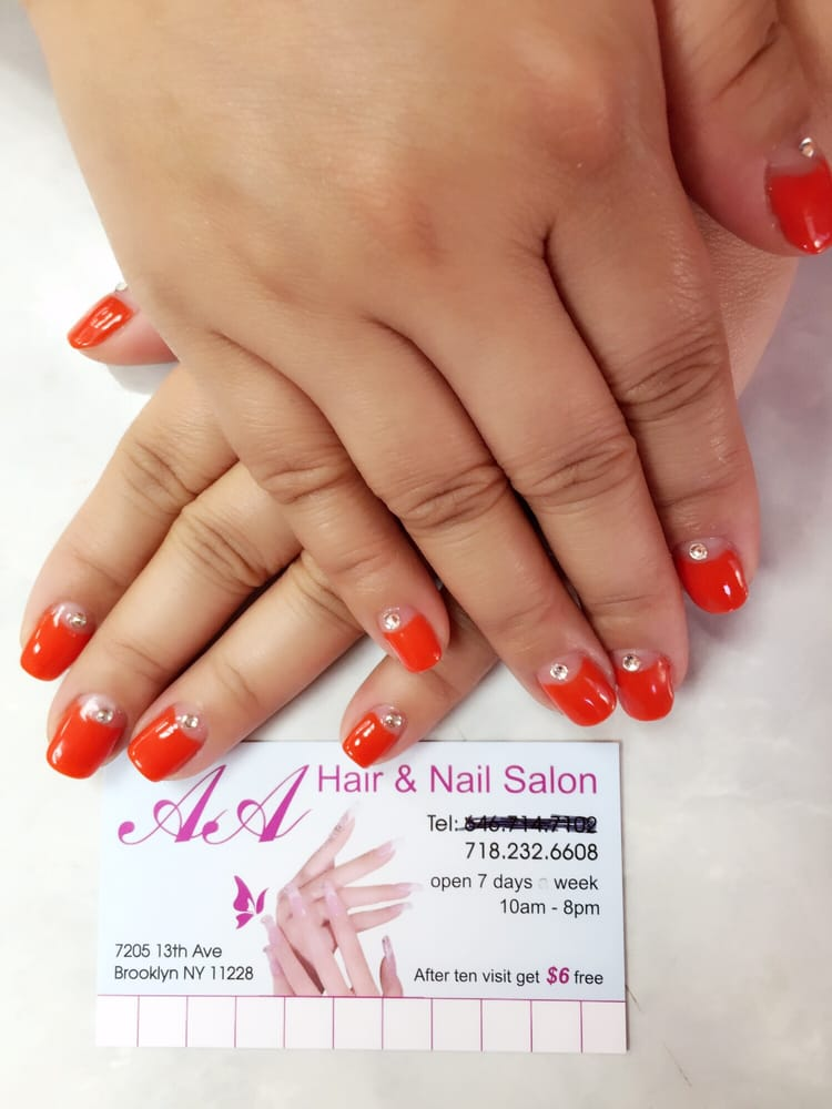 aa hair nail salon nail salons bensonhurst brooklyn For24 Hour Nail Salon Brooklyn Ny