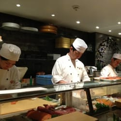 Sushi bar at Nobu.