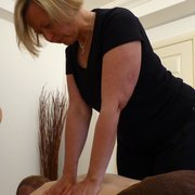 Jan stretching the back with Myofascial…