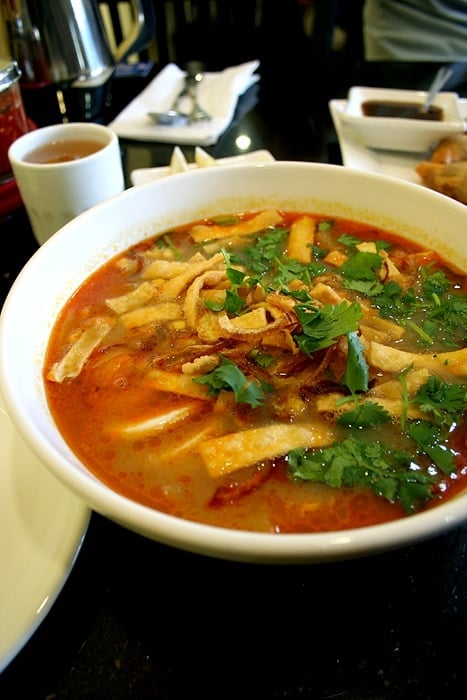 Mohingha cat fish noodle soup yelp for Fish soup near me