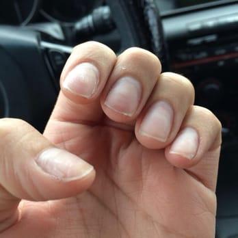Removing acrylic nails salon