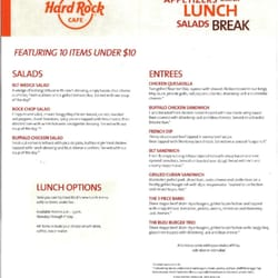 Hard Rock Cafe Seattle Drink Menu