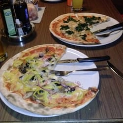 Two wonderful pizzas.