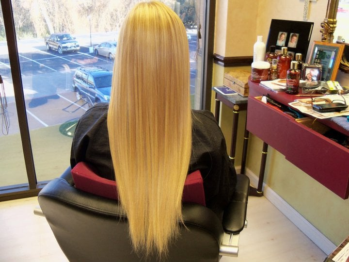 Clint (TX) United States  city images : Back View Client completed with multi dimensional blonde fusion hair ...