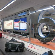 Baggage claims - very easy to see the numbers