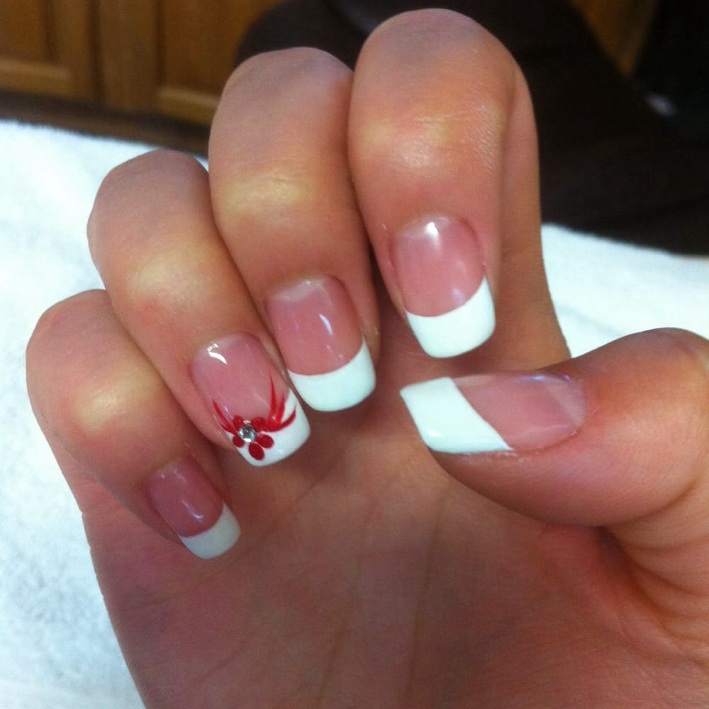 Shellac French Tip Nail Designs Shellac French Tip Manicure
