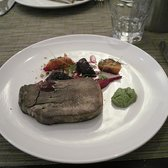 Crisp ox tongue, beetroot and hazelnut salad, sorrel mayonnaise