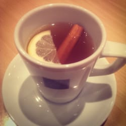 Drambuie hot toddy with apple, cinnamon,…