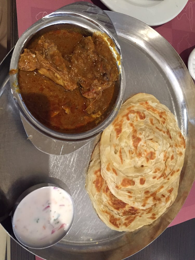 Parotta with chicken curry yelp for Anjappar chettinad south indian cuisine
