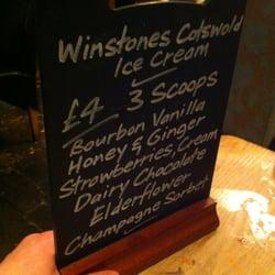 Dessert menu, side one.