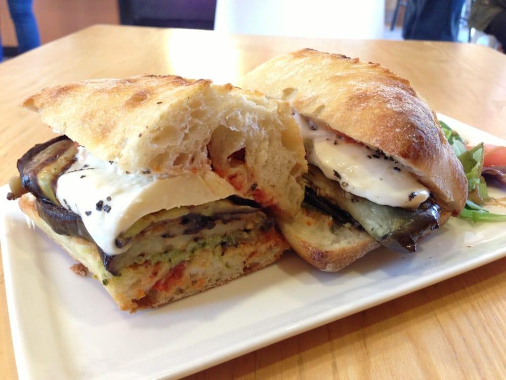 eggplant panini with pesto i grilled the eggplant right glaze panini ...