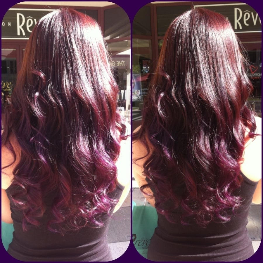 Violet Red Ombre Hair Color Jayhair1  YouTube