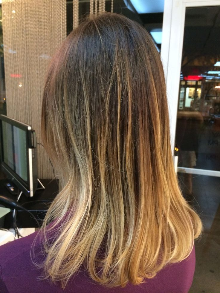 coral gables, fl, united states blonde balayage ombre by emilee
