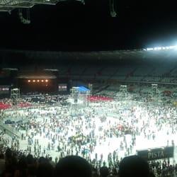 Espaço interno do estádio