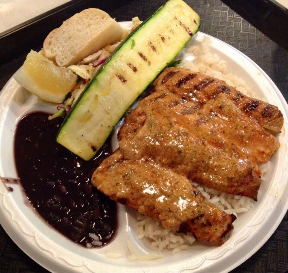 Fish plate mahi mahi w cajun butter rice pilaf black for Phils fish grill