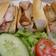 chicken tikka baguette