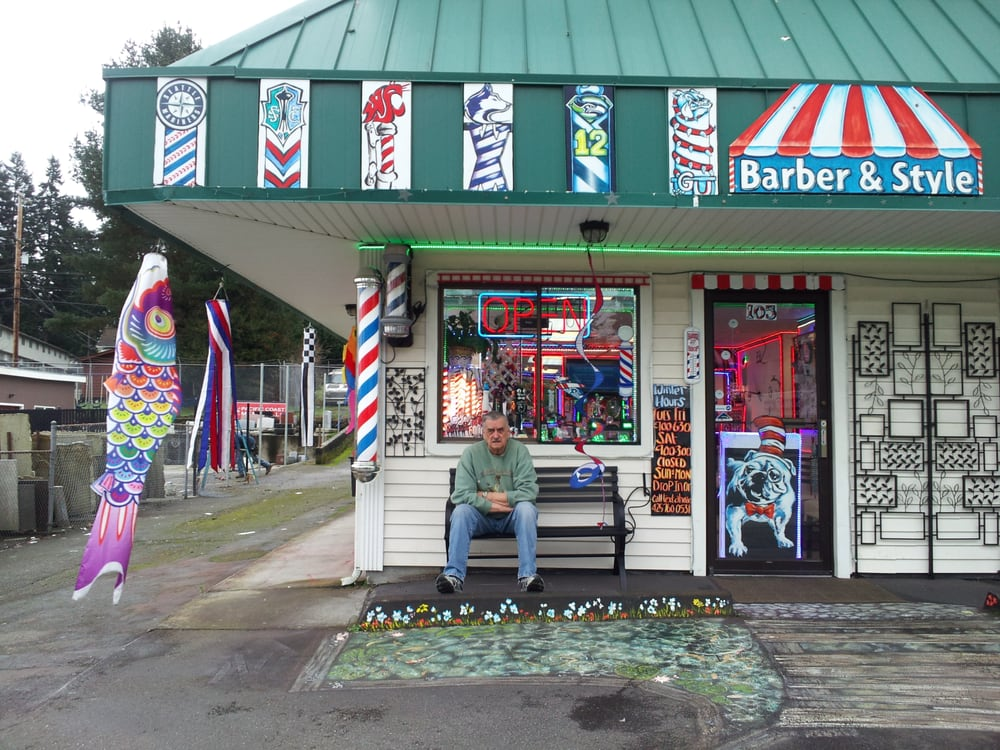 The barber shop stop 56 photos barbers 5705 for Evergreen shop
