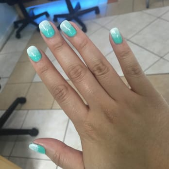 Nail Spa - Euless, TX, United States. Ombré with glitter gel manicure