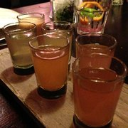 The 6 shots sampler. Not sure which is which but be careful of the spicy pepper one! Super spicy :)