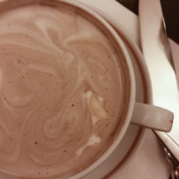 Hot chocolate. This is definitely very rich but it's not too sweet and a must if you are to visit!