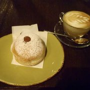 Nutella donut and cappuccino. Do it!