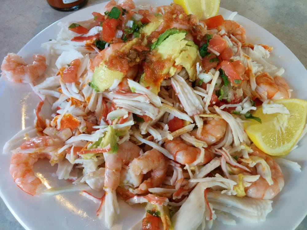 El Puerto Escondido - Shrimp & Crab Tostadas - Hawthorne, CA, United ...