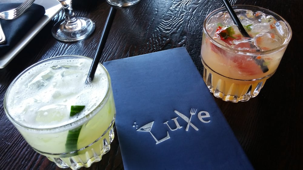 Luxe Restaurant & Martini Bar - Dana Point, CA, United States. Delicious drinks and they were on happy hour!!!