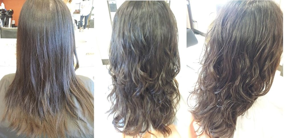 Digital Perm Before And After Loose Curls Yelp