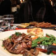 Le Tambour - Paris, France. Entrecôte + vegetables + potatoes