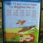 Return bus times from Devil's Dyke for…