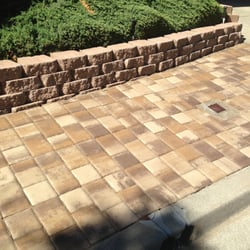 H&J Landscaping Services - pavers with stone retaining wall - Fremont, CA, United States