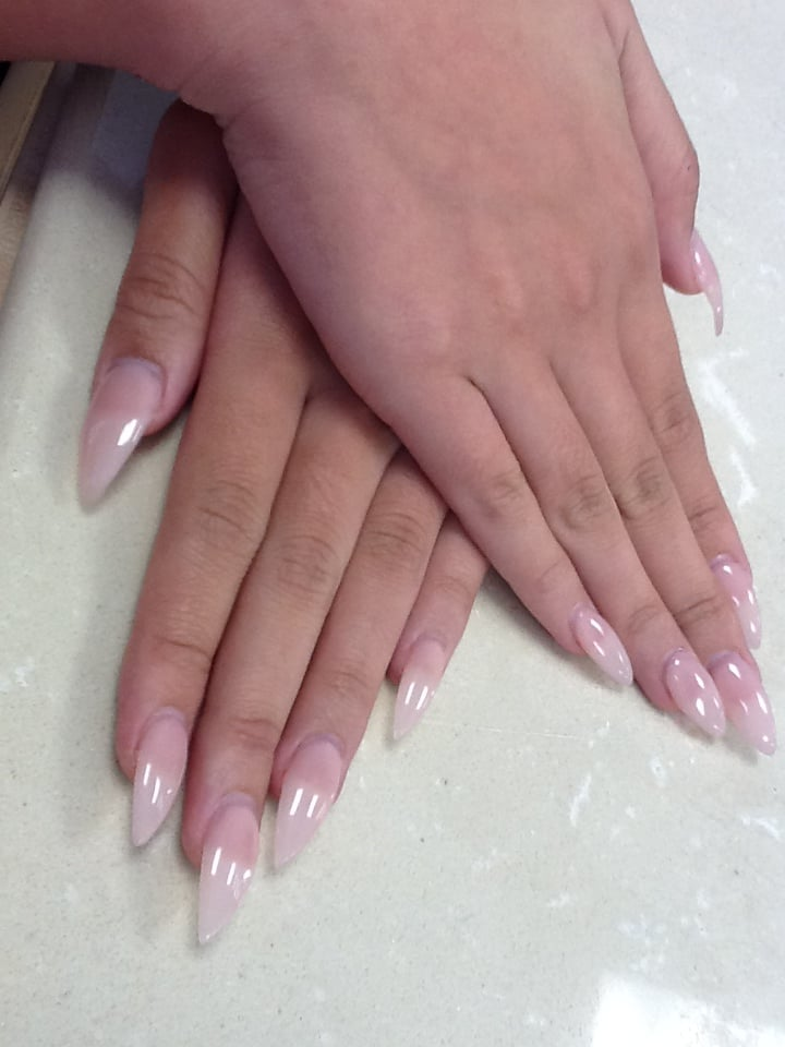 Art Nails - Wylie, TX, United States. Stiletto nails on our assistant