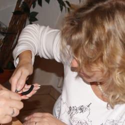 Christina hilft mir beim Fertigstellen…