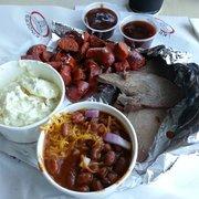 Kinder's Meats Deli BBQ - 2 Way combo with ball tip & hot link.... - Fremont, CA, Vereinigte Staaten