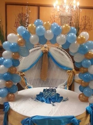 Baby shower decor sharon 39 s decorations inc yelp for Baby shower hall decoration