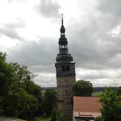 Schiefer Turm von Bad Frankenhausen.