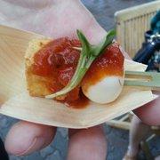 Elite Event: PreEaster Sunday Funday - Palo Alto, CA, États-Unis. Quail Egg & Tofu