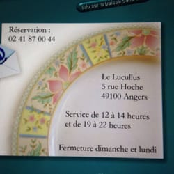 Le Lucullus - Angers, France. Carte de visite