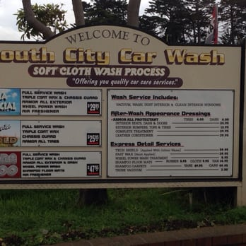 Millbrae Car Wash Menu
