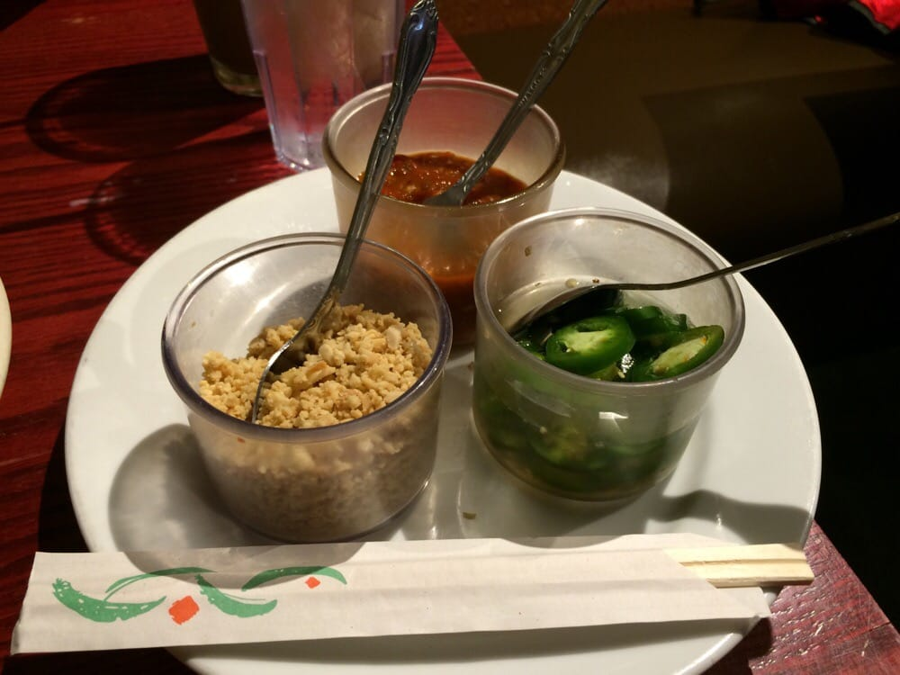 Side Condiments You Would Have To Ask For And Chopsticks Yelp