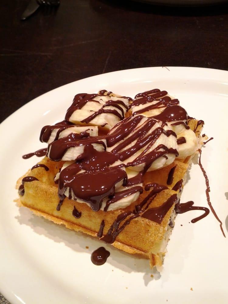banana chocolate waffle waffles with chocolate banana dark chocolate ...