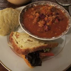 Alice's Tea Cup - chicken curry with chili and savory scone - New York ...