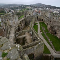 Overall view of Conwy and the castle