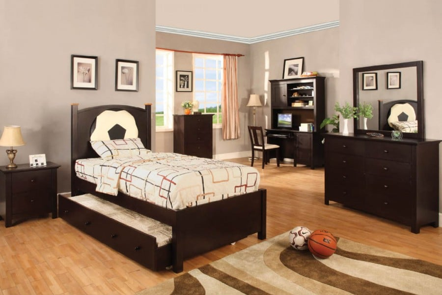 Olympic iii soccer theme bedroom collection available in for Affordable furniture la