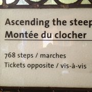 Yes I climbed the 768 steps to the top…