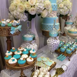 Platinum candy buffets elegant tiffany and co wedding candy and